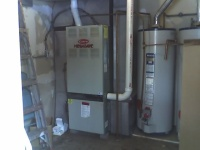 Residential Heating Old Furnace before