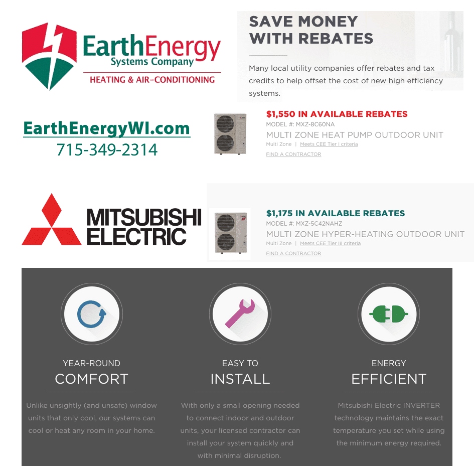 mitsubishi earth energy wi